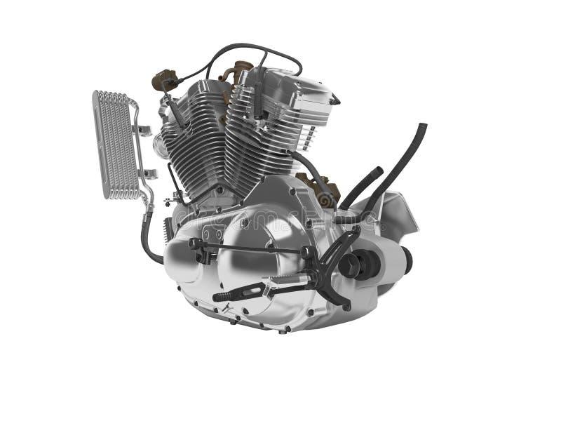 Renderer för ask för kugghjul för cylinder för motorcykel två för begreppsbensinmotor 3d på vit bakgrund ingen skugga vektor illustrationer