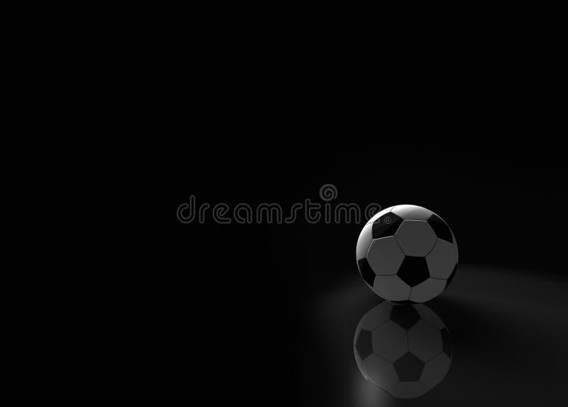 rendering balowa piłka nożna ilustracja wektor