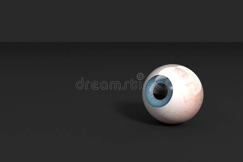 3d Rendering, Realistic Human Eye Model Stock Illustration