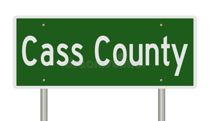 Highway sign for Cass County Nebraska stock illustration