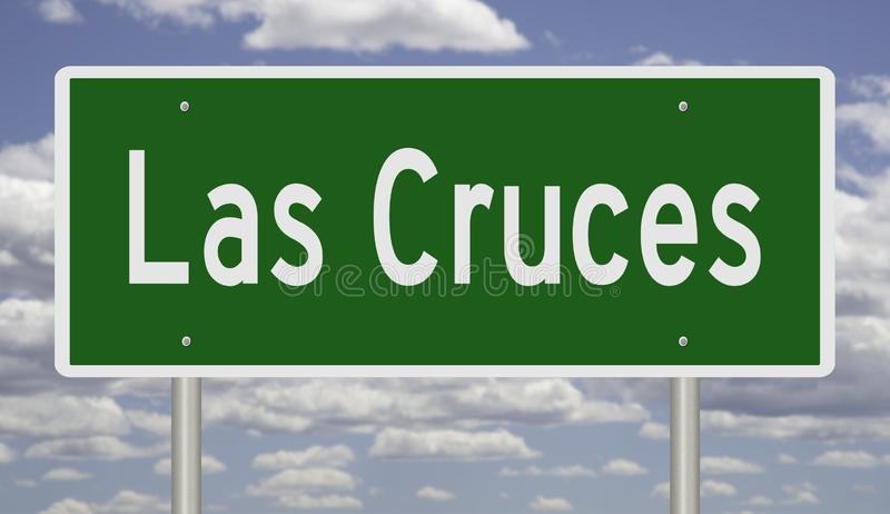 Highway sign for Las Cruces New Mexico. Rendering of a green highway sign for Las Cruces New Mexico royalty free stock photography
