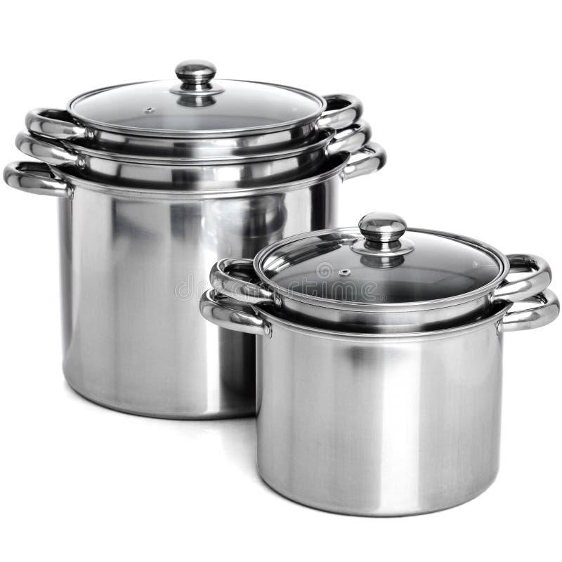 Free Rendering Group Of Metallic Pans Stock Photos - 55599783