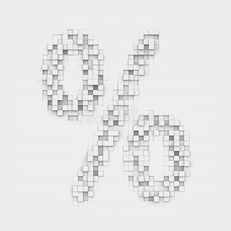 Rendering Large Percentage Symbol Made Up Of White Square Uneven