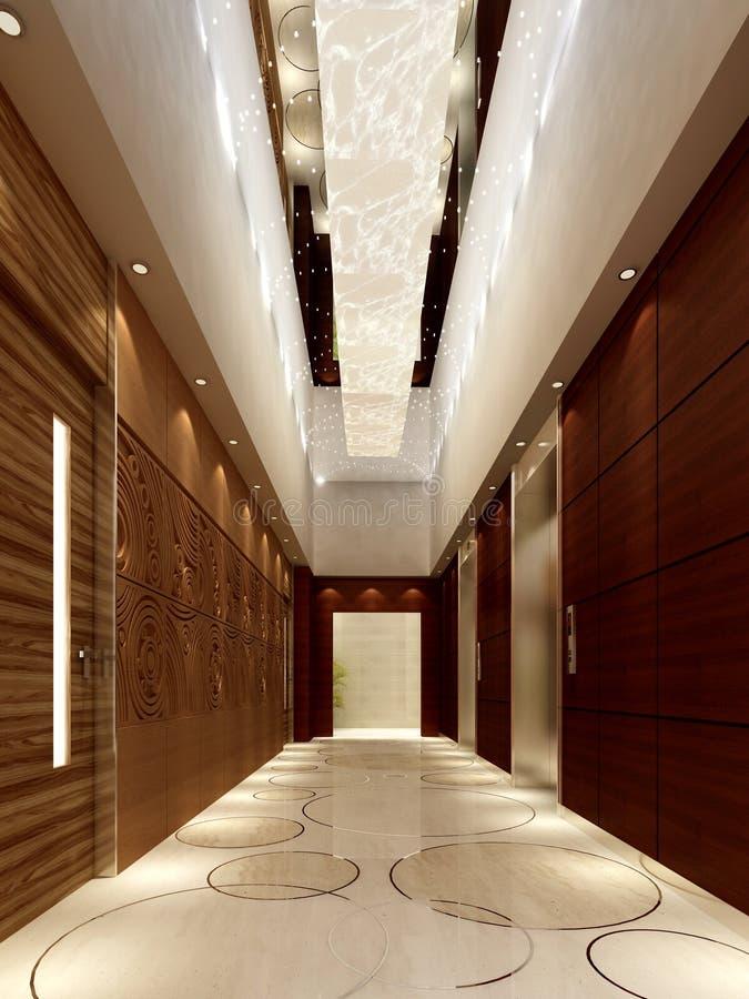 Download Rendering modern corridor stock illustration. Image of corridor - 17083043