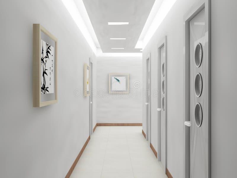 Download Rendering modern corridor stock illustration. Illustration of modern - 18116034