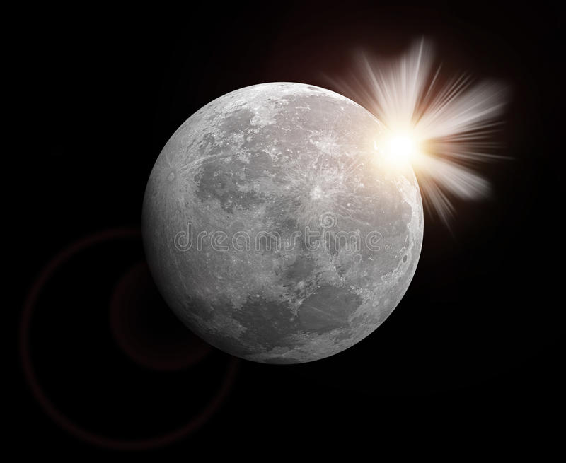 Download Rendering of a moon stock illustration. Image of month - 16613431