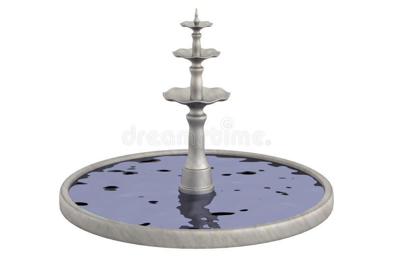 Rendez de la fontaine illustration de vecteur