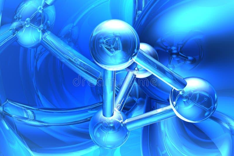 Rendez de la molécule illustration libre de droits