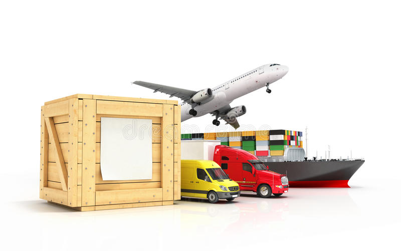 Rendez des différents modes du transport illustration libre de droits