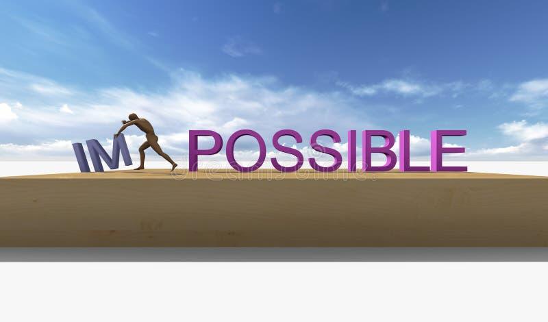 Rendez-le possible. Concept de motivation illustration stock