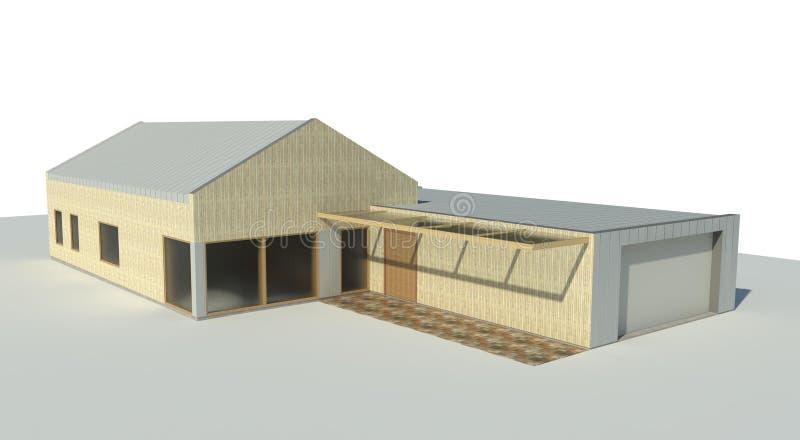 Rendez : pavillon illustration stock
