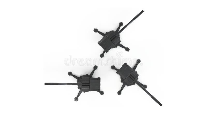 Rendição capaz da torreta 3d do scifi do transporte aéreo ilustração stock