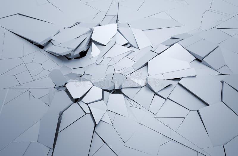 Rendição 3D abstrata de superfície rachada ilustração stock