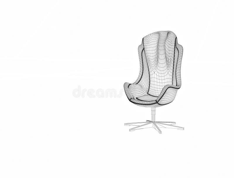 rendição 3d Cadeira grande ilustração royalty free