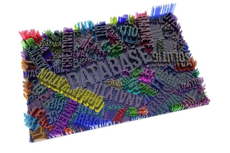 Rendição 3d colorida Dê forma à composição, estrutura geométrica, b ilustração royalty free