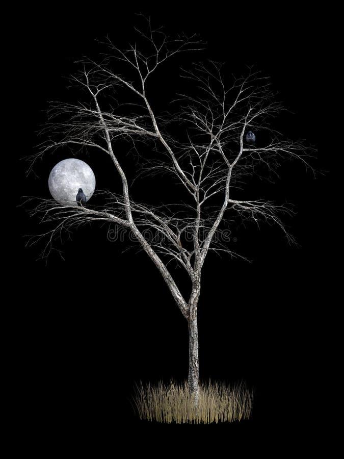 rendição 3D da árvore da morte ilustração do vetor