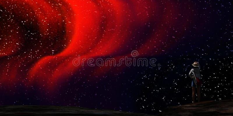 rendição 3d da Aurora agradável com começo claro atrás dele ilustração do vetor