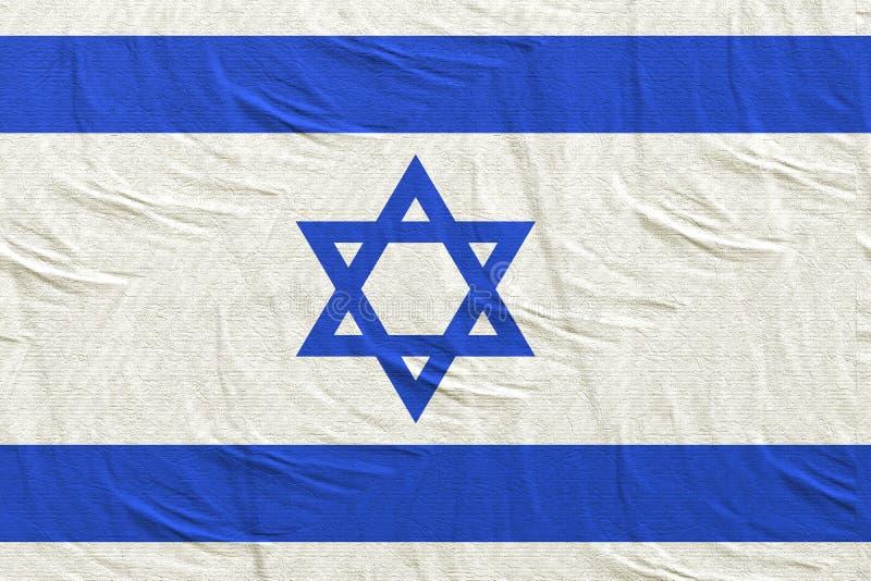 rendição 3d da bandeira de Israel ilustração do vetor