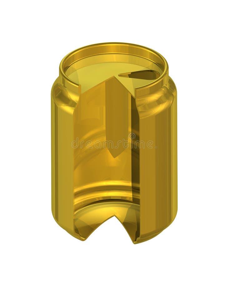 rendição 3D da lata de cerveja na seção imagem de stock