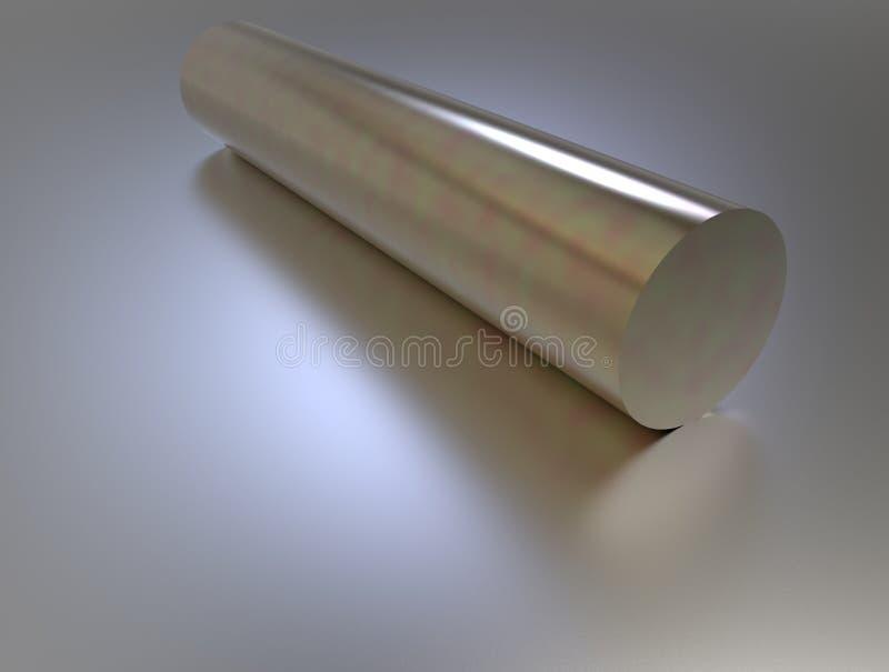 rendição 3d da tubulação do metal do ouro ilustração do vetor