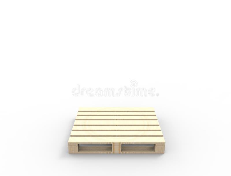 rendição 3D das páletes de madeira isoladas no fundo branco ilustração do vetor