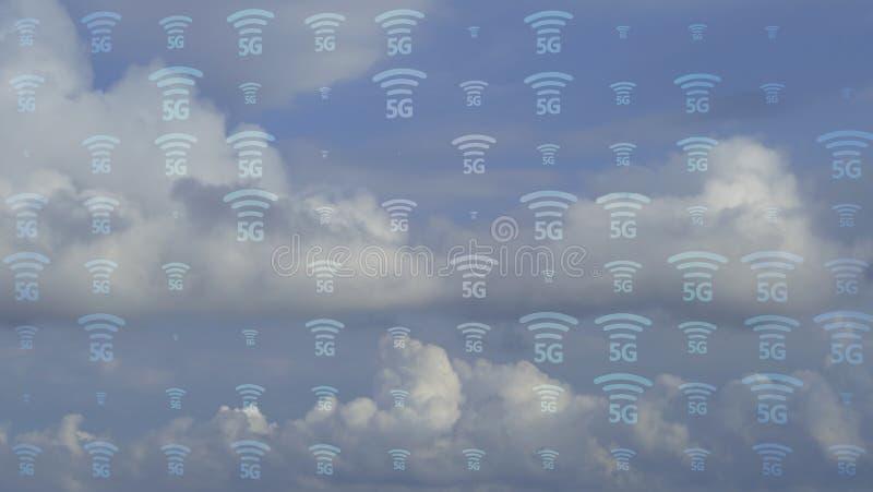rendição 3d de 5G afiado com vista agradável imagens de stock royalty free