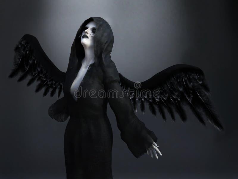 rendição 3D de um anjo de morte ilustração do vetor
