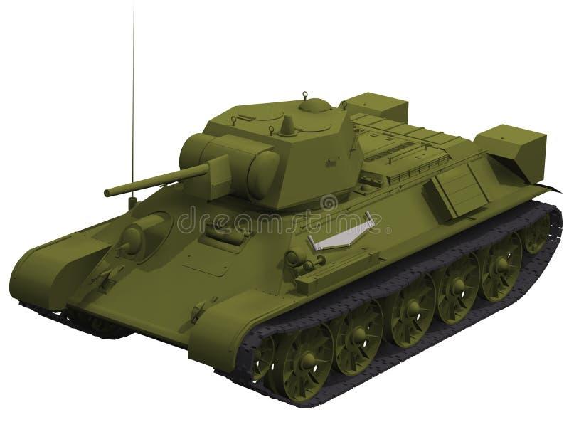 rendição 3d de um tanque do soviete T-34 ilustração stock