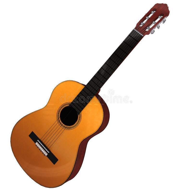 rendição 3d de uma guitarra acústica ilustração stock