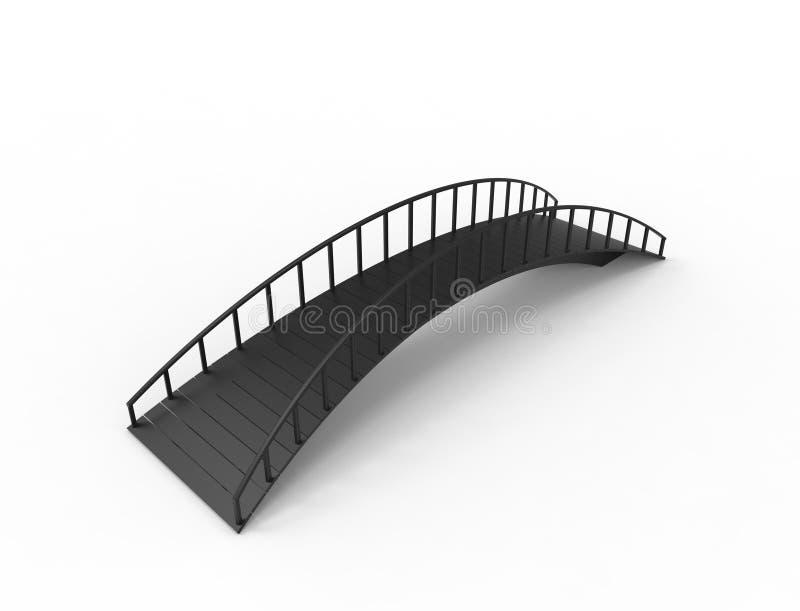 rendição 3D de uma ponte isolada no fundo branco ilustração royalty free