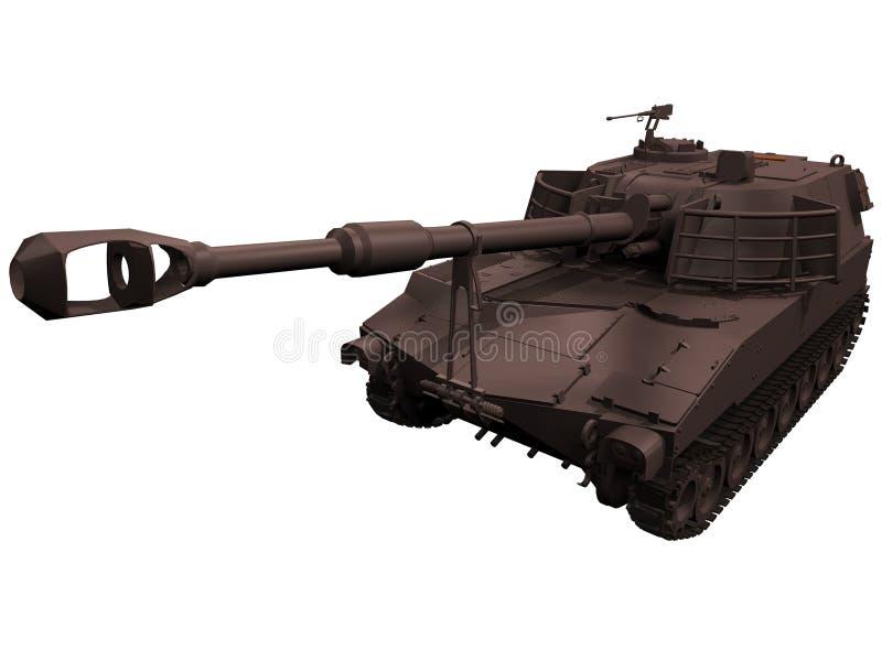 rendição 3d de uns obus M109 ilustração stock