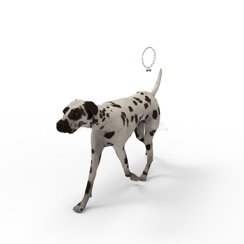 rendição 3d do cão criada usando uma ferramenta do misturador ilustração stock