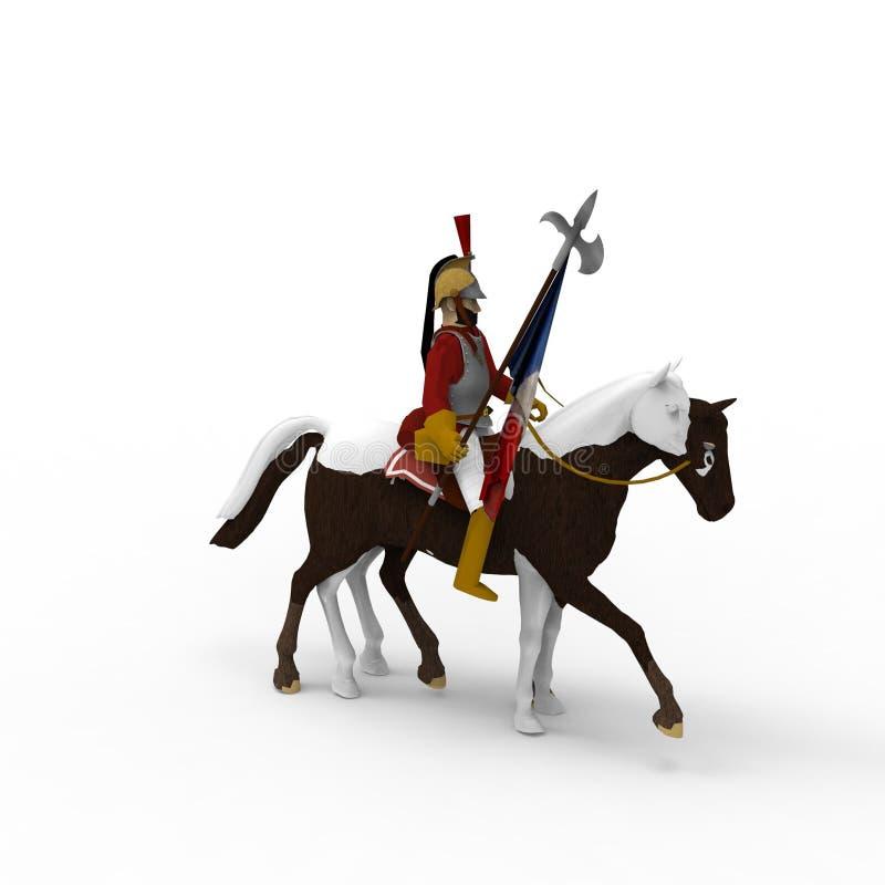 rendição 3d do cavalo criada usando uma ferramenta do misturador ilustração do vetor
