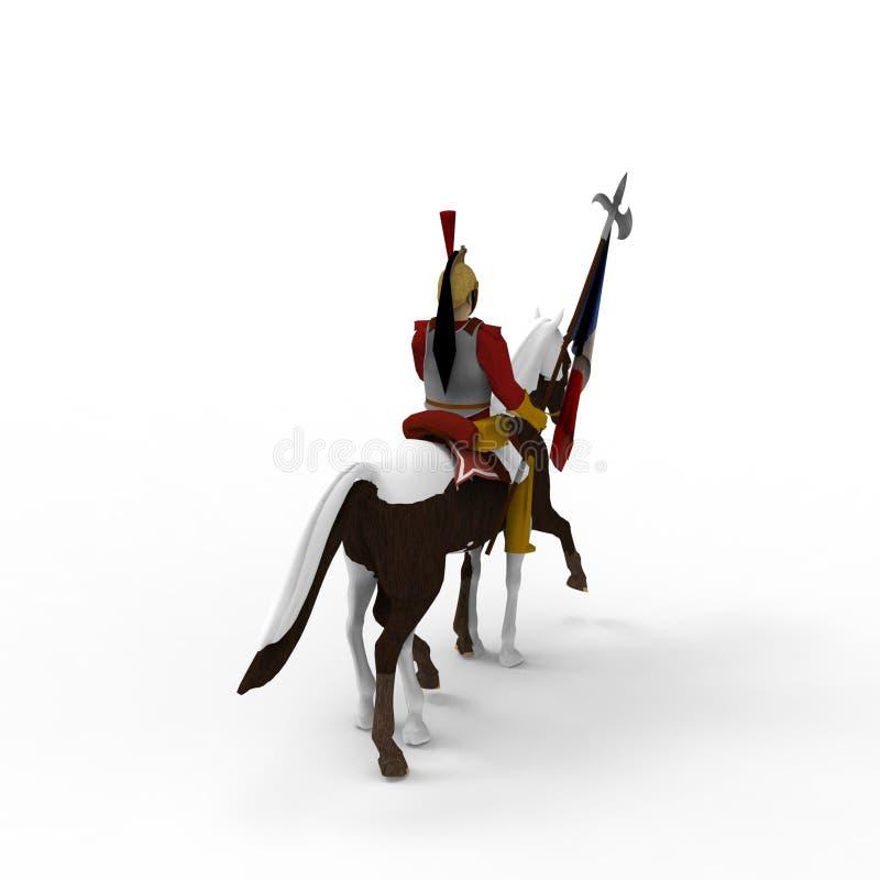 rendição 3d do cavalo criada usando uma ferramenta do misturador ilustração royalty free