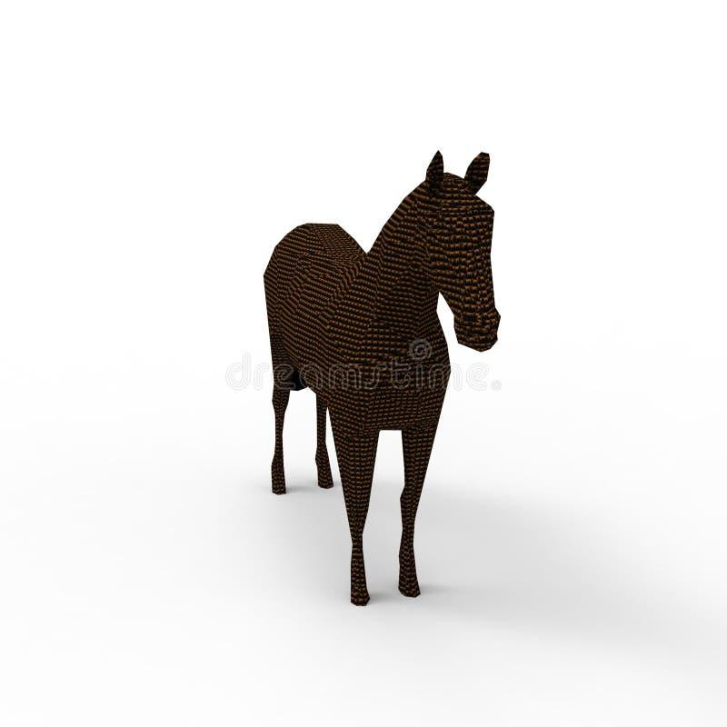 rendição 3d do cavalo criada usando uma ferramenta do misturador ilustração stock