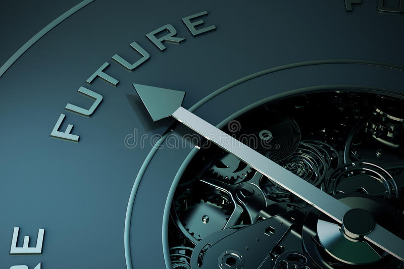 rendição 3D do compasso futuro fotos de stock