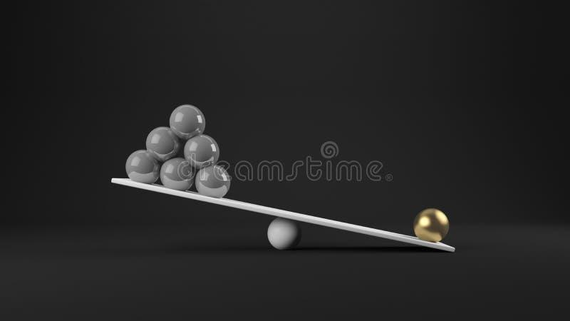 rendição 3d do conceito do equilíbrio ilustração royalty free