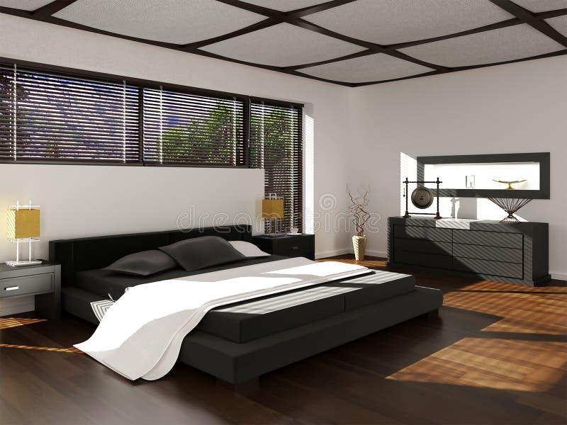 rendição 3d do design de interiores novo do quarto do estilo do eco ilustração do vetor