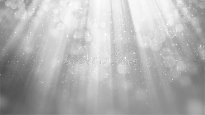 rendição 3D do fundo de prata brilhante abstrato imagens de stock
