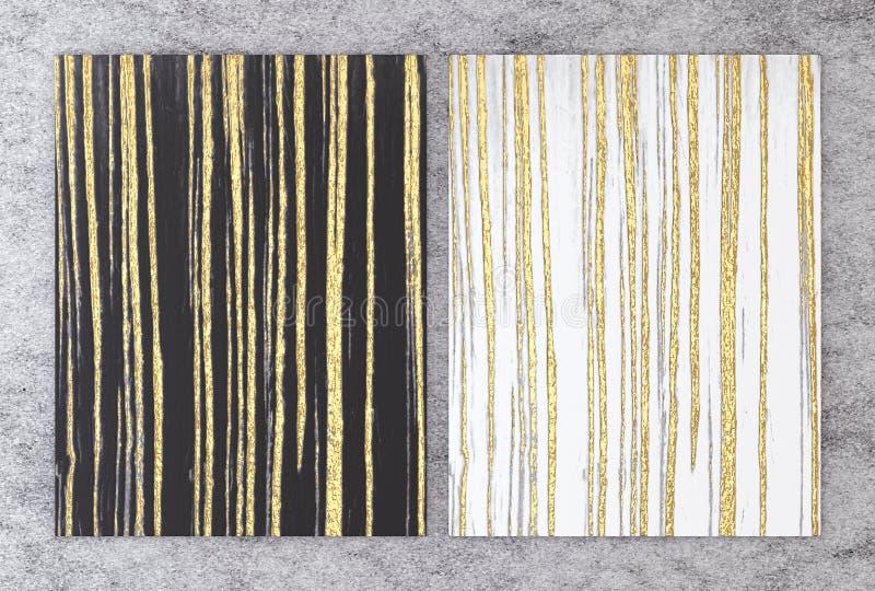 rendição 3D do mármore preto e branco com folha dourada para o cartão do convite do casamento e do cumprimento ou o seu design de ilustração do vetor