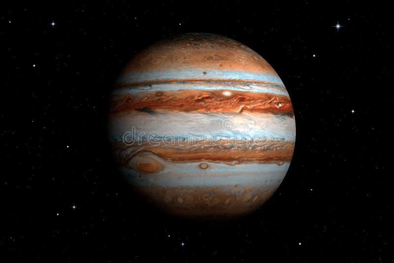 rendição 3d do planeta do Júpiter ilustração royalty free