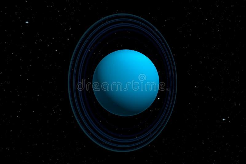 rendição 3d do planeta do Urano ilustração stock