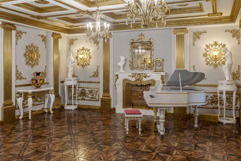 rendição 3d do salão no renderer clássico da corona do cinema 4D do estilo imagem de stock royalty free