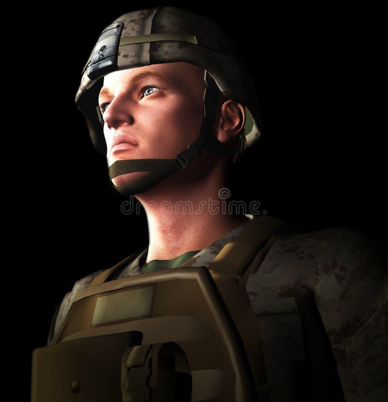 soldado 3d ilustração royalty free