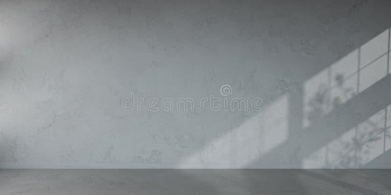 Rendição 3D interior do muro de cimento ilustração do vetor