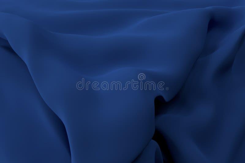 rendição 3d Papel de parede azul da tela de Abstact imagens de stock royalty free