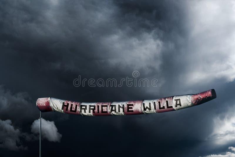 rendição 3D para o título poderoso de Willa do furacão para México ilustração do vetor