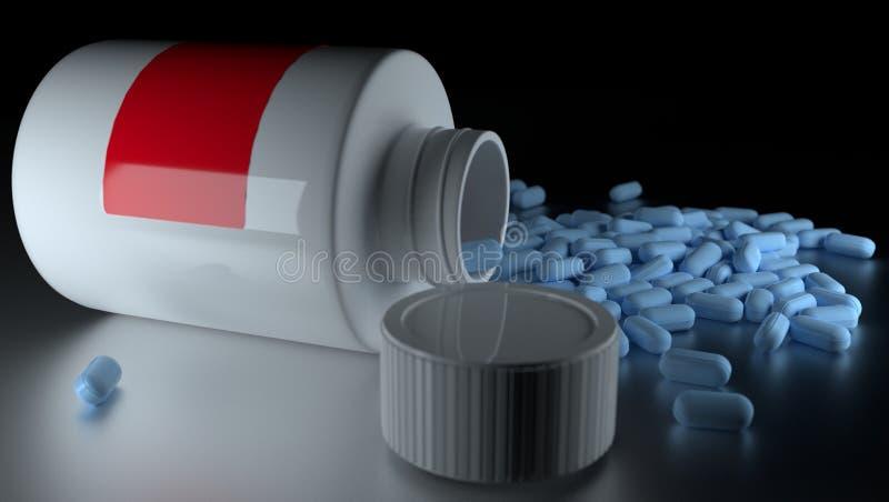 rendição 3d Pilhas médicas Recipiente fotos de stock