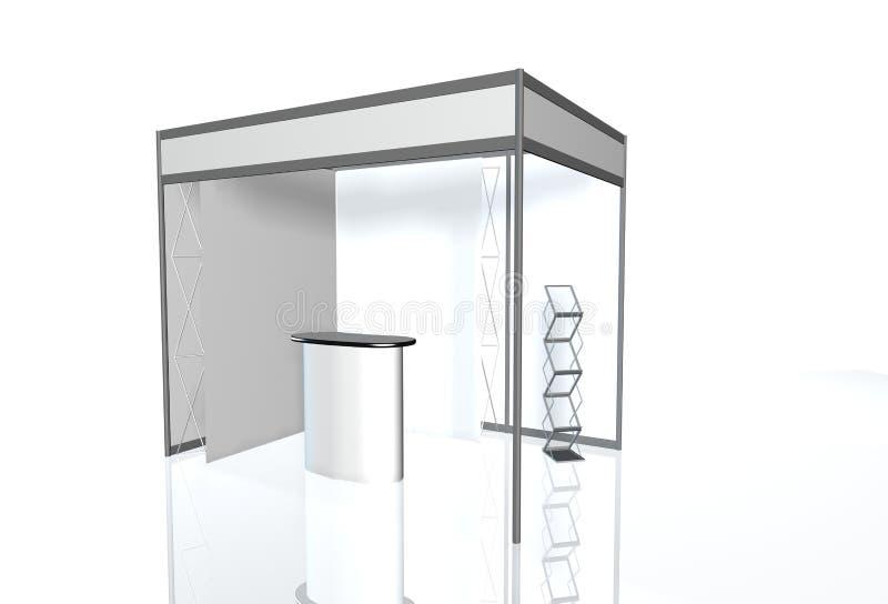 Rendição 3D redonda da exposição de comércio do suporte da exposição fotografia de stock royalty free