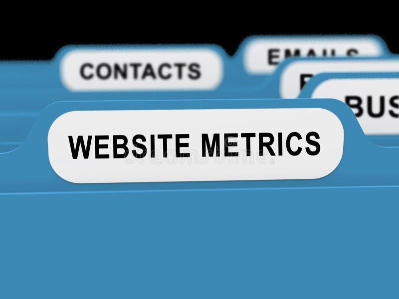 Rendição da analítica 3d do local do negócio do medidor do Web site ilustração do vetor